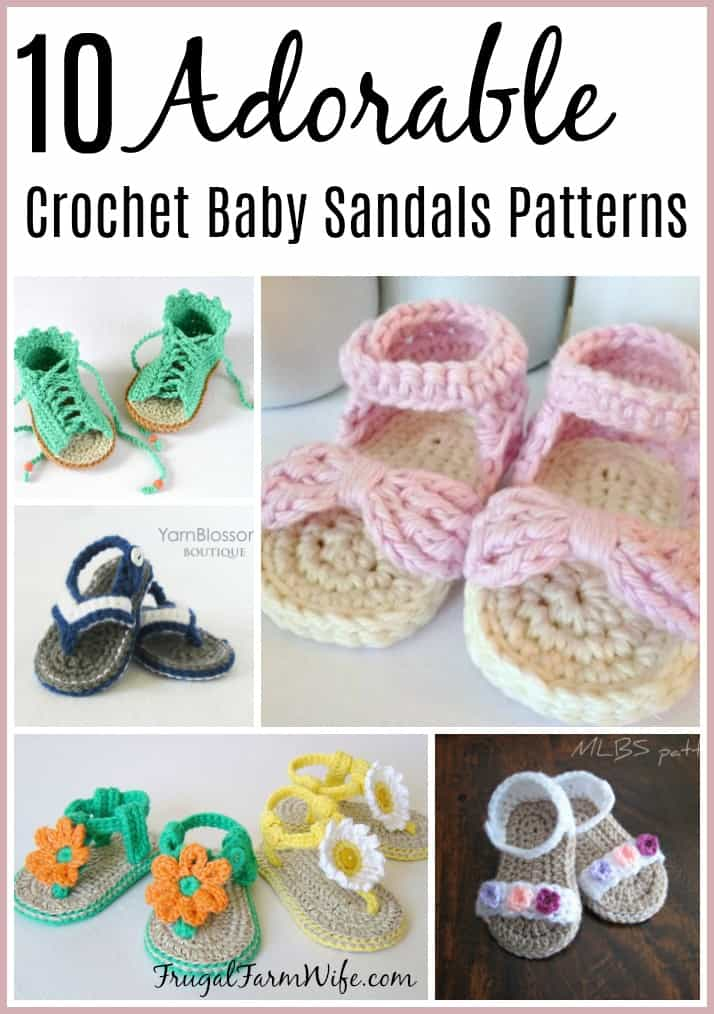 Looking for crochet baby sandals patterns to make in your spare time this spring? We've got 10 of the most adorable patterns for you right here!