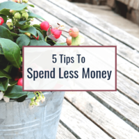 How to Spend Less Money