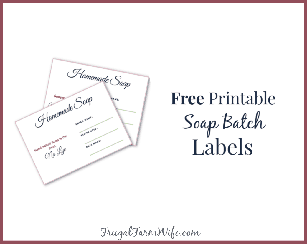photograph regarding Printable Soap Labels identify Printable Cleaning soap Batch Labels The Frugal Farm Spouse