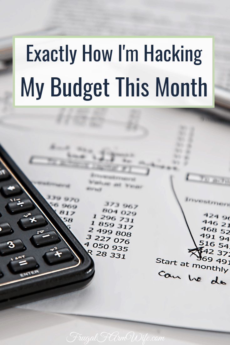 What I did to create more wiggle room in my budget this month - and it's not spend less money!
