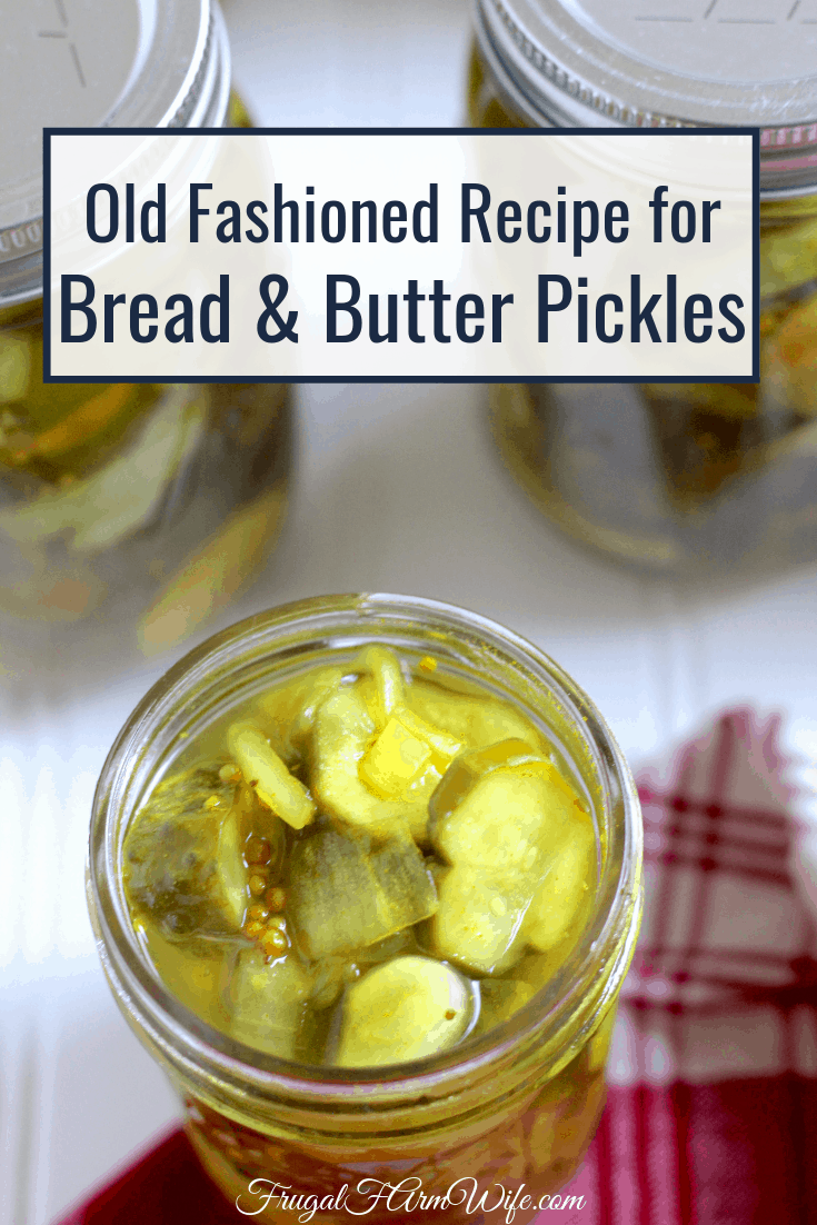 These old fashioned bread and butter pickles are the kind that stay crisp even after you can them!