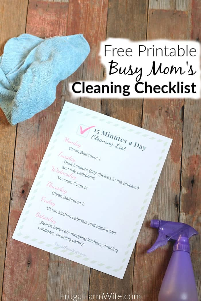 Get this free printable weekly cleaning checklist - your future self will thank you for it!