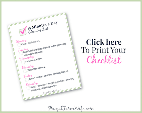 printable weekly cleaning list for busy moms