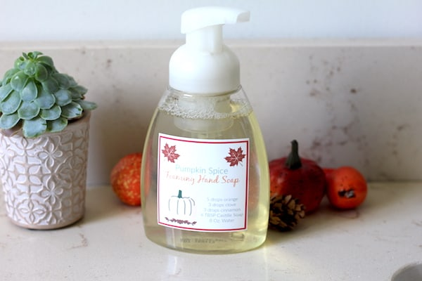 pumpkin foaming hand soap