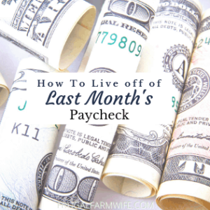 How to Live off of Last Month's Money