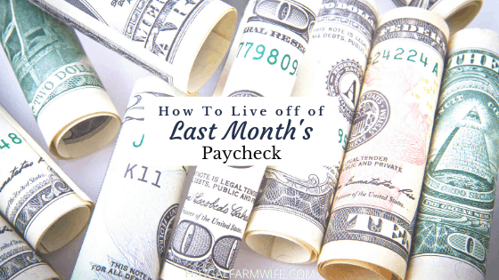 how to get a month ahead on your paycheck