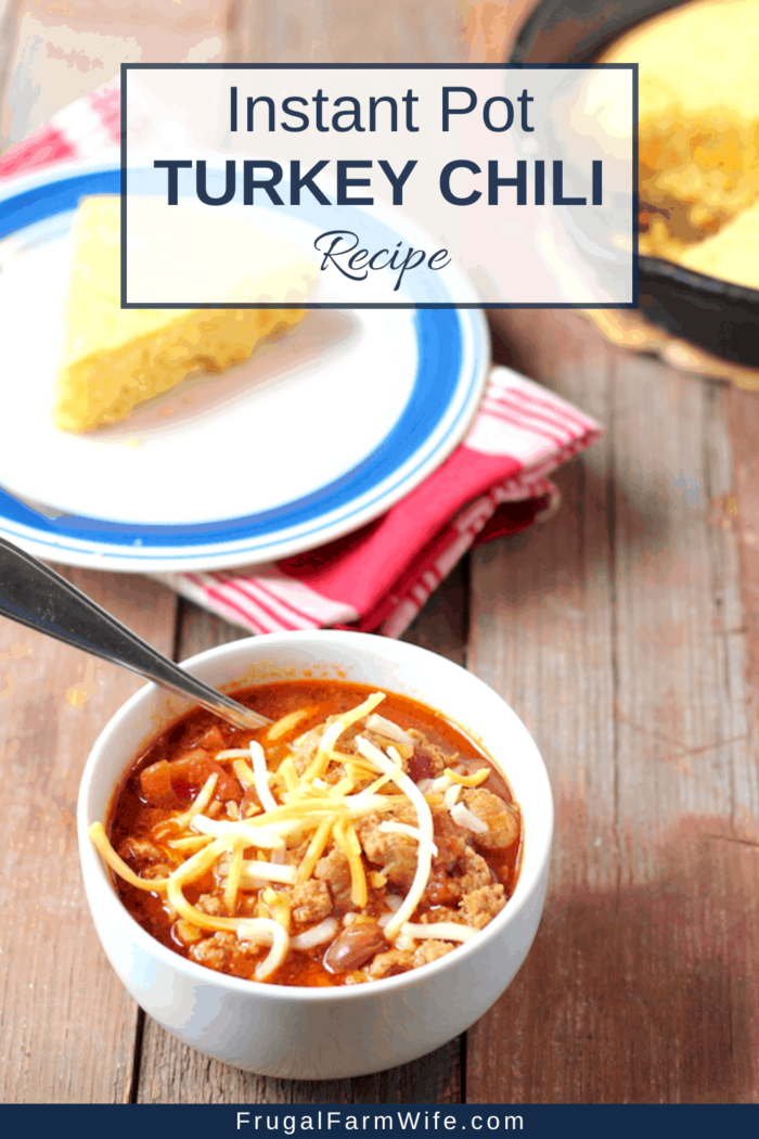 This instant pot turkey chili recipe is perfect on a cold day! ten minute prep time is all you need!