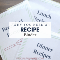 why you need a recipe binder