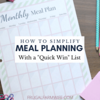 "How to Simplify Meal Planning with a ""Quick Win"" List"