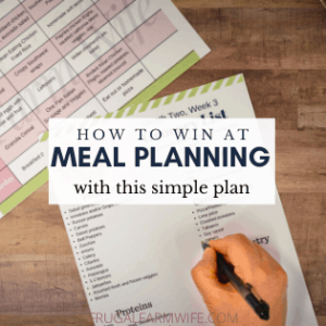 How to Win at Meal Planning – Keep it Super Simple