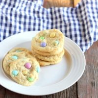 Gluten-free Easter M&M Cookies
