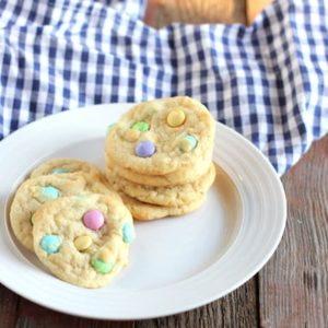 Gluten-free Easter M&M Cookies