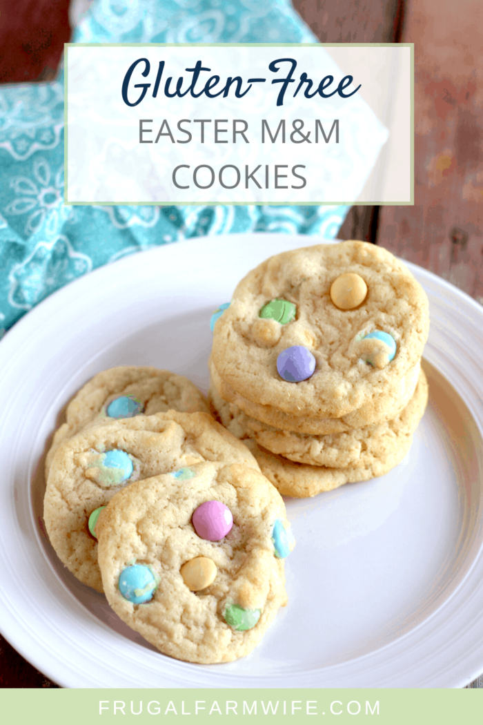 Gluten-free M&M easter cookies are everything you didn't know you needed for a spring treat!