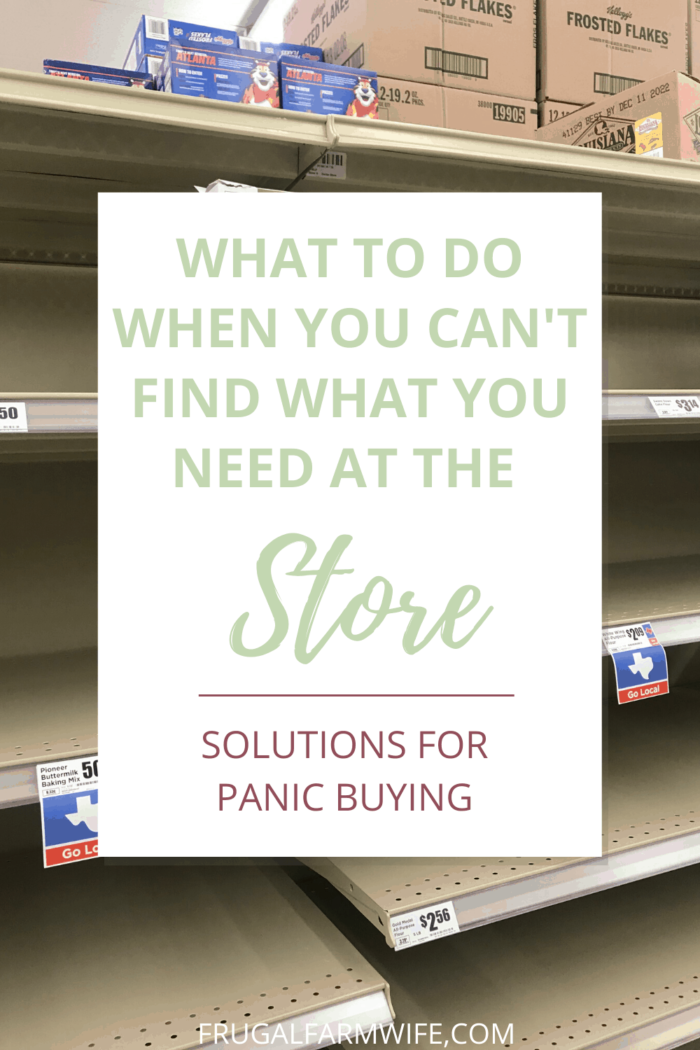what to do when you can't find what you need at the store