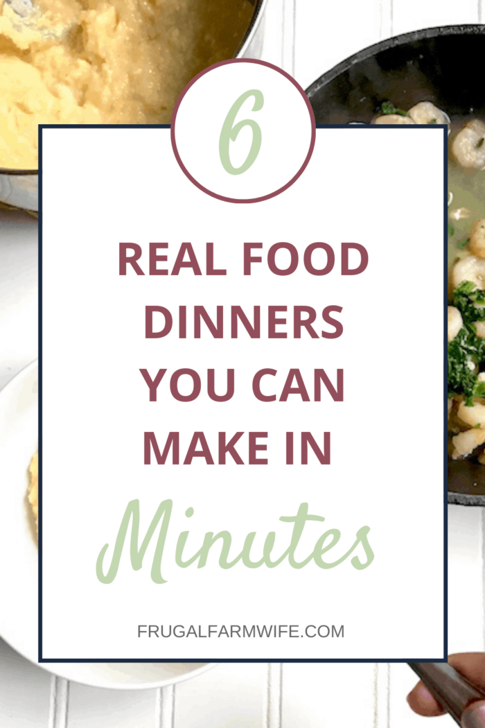 Want real food recipes you can make in minutes? These 6 are game changers!