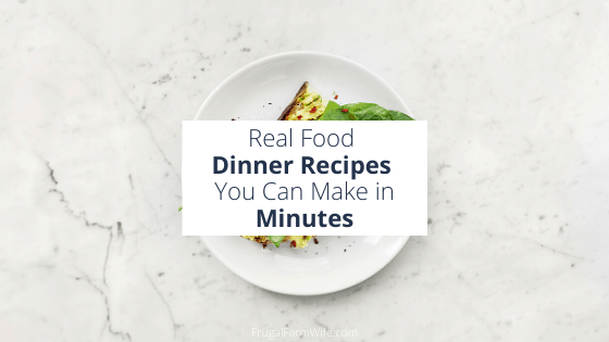Real food dinners that take only minutes to make!
