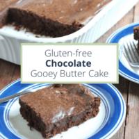 gluten free chocolate gooey butter cake