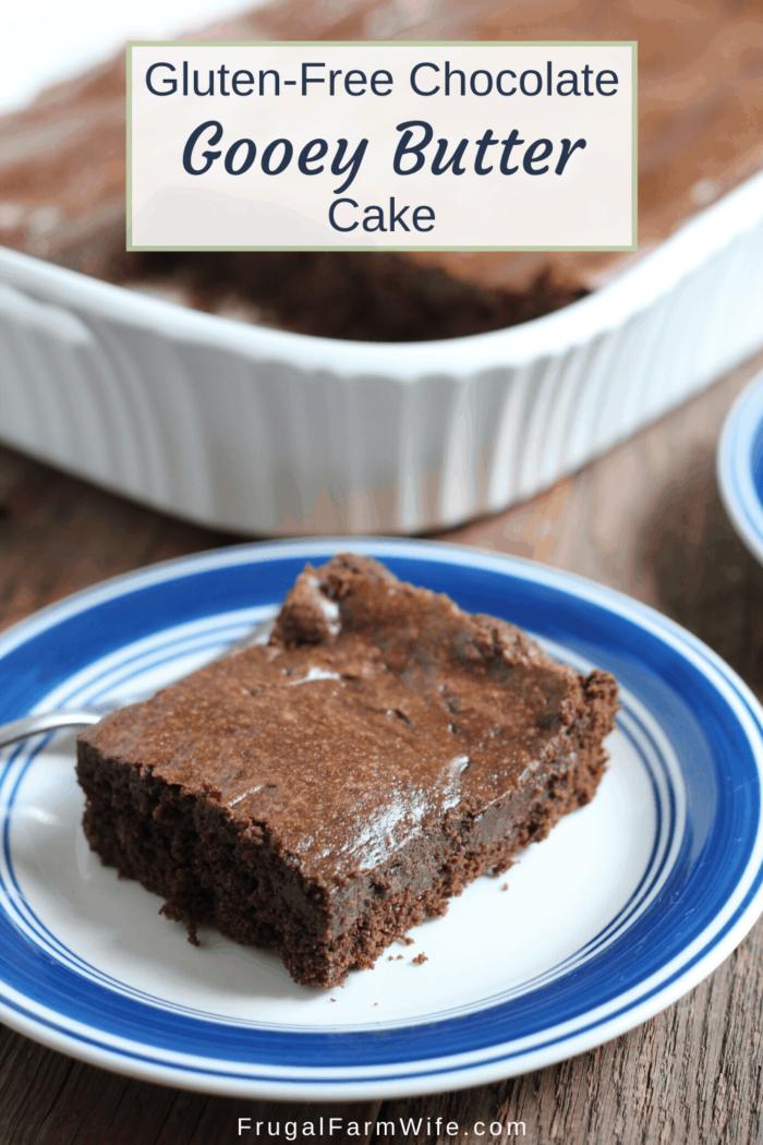 gluten-free chocolate gooey butter cake