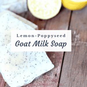 Lemon Poppyseed Soap with Goat Milk