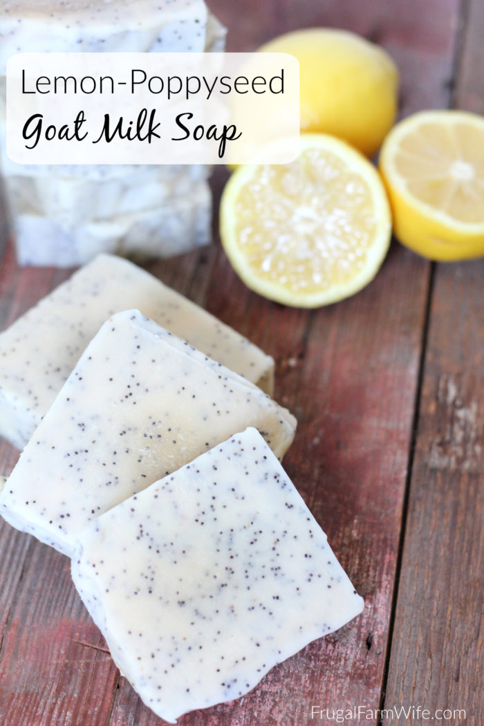lemon poppyseed soap with goat milk is perfect for exfoliating and making your skin fresh!