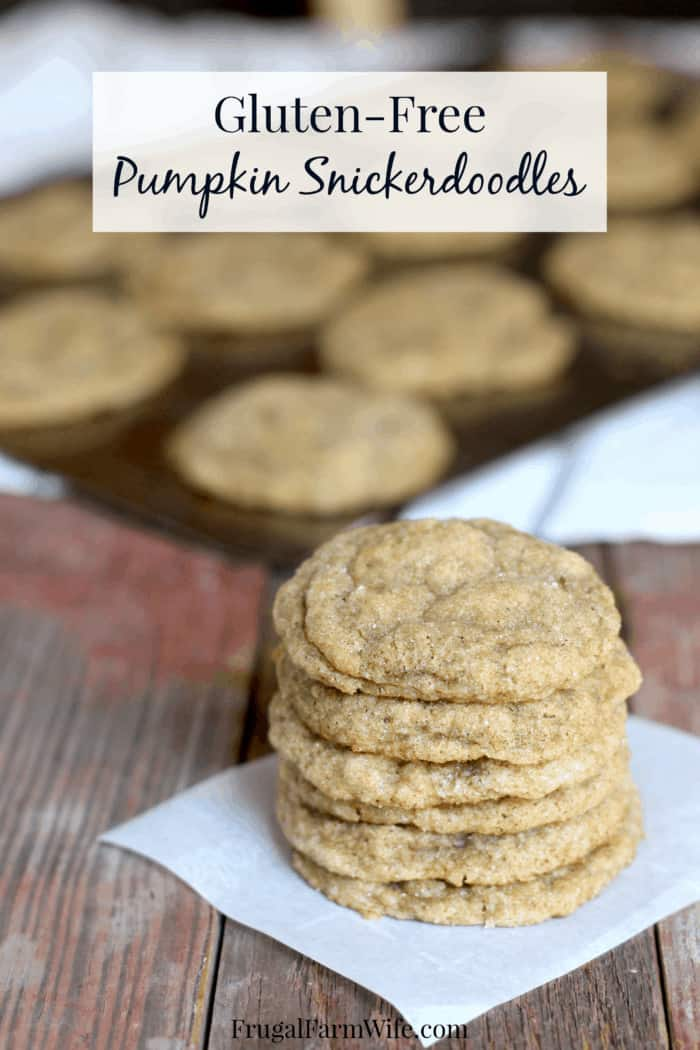 these gluten-free pumpkin snickerdoodles, and they're super easy to make!