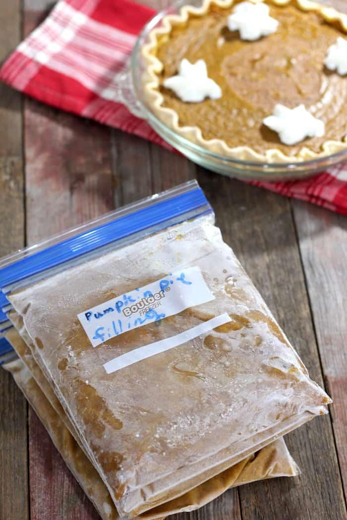 freezer pumpkin pie filling tutorial
