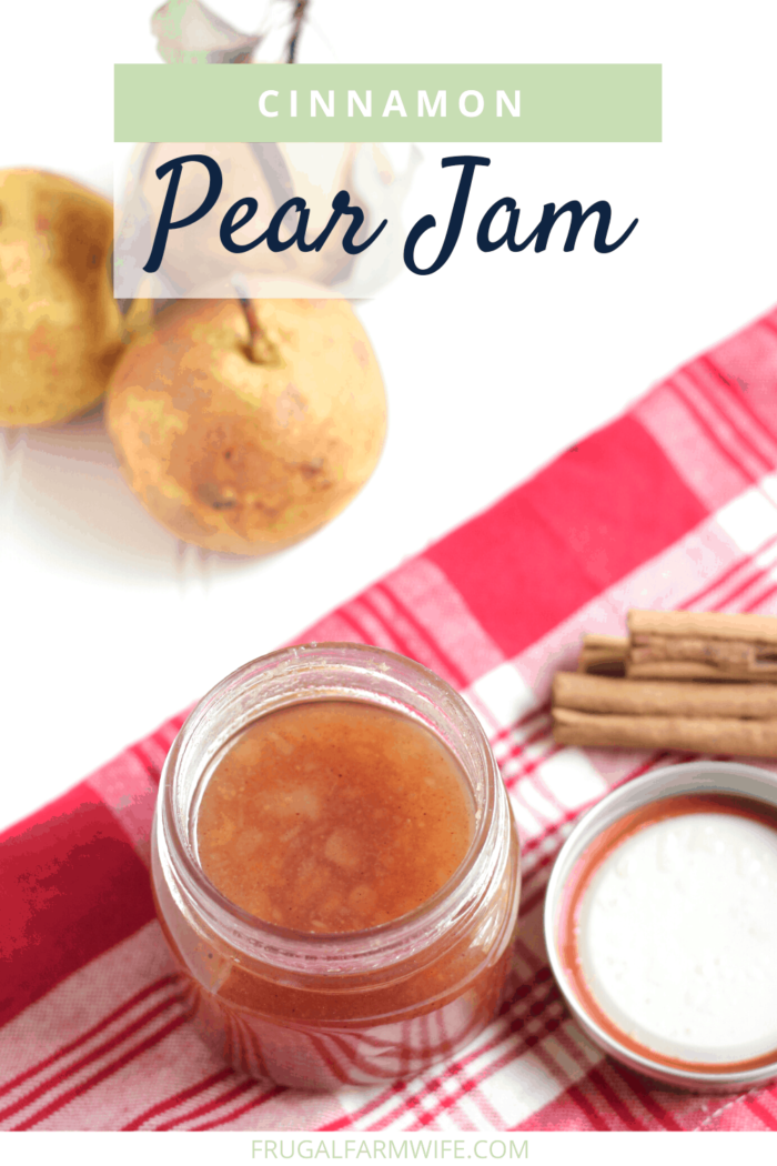Cinnamon pear jam recipe with canning instructions