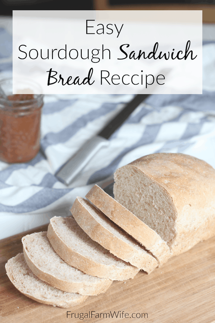 Looking for a great sourdough sandwich bread to feed your family? This is the best recipe ever! Though sourdough bread takes about two days to make, it's mostly hands-off time