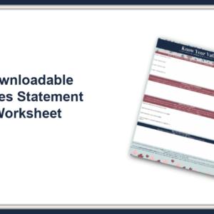 Values Statement Worksheet