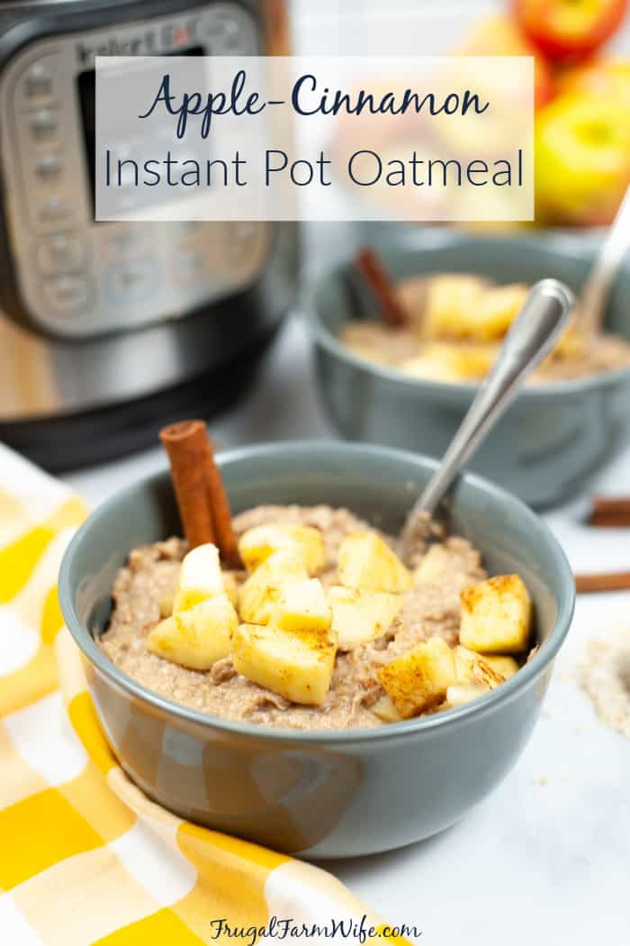 apple-cinnamon instant pot oatmeal is an easy to way to make a simple breakfast delicious!