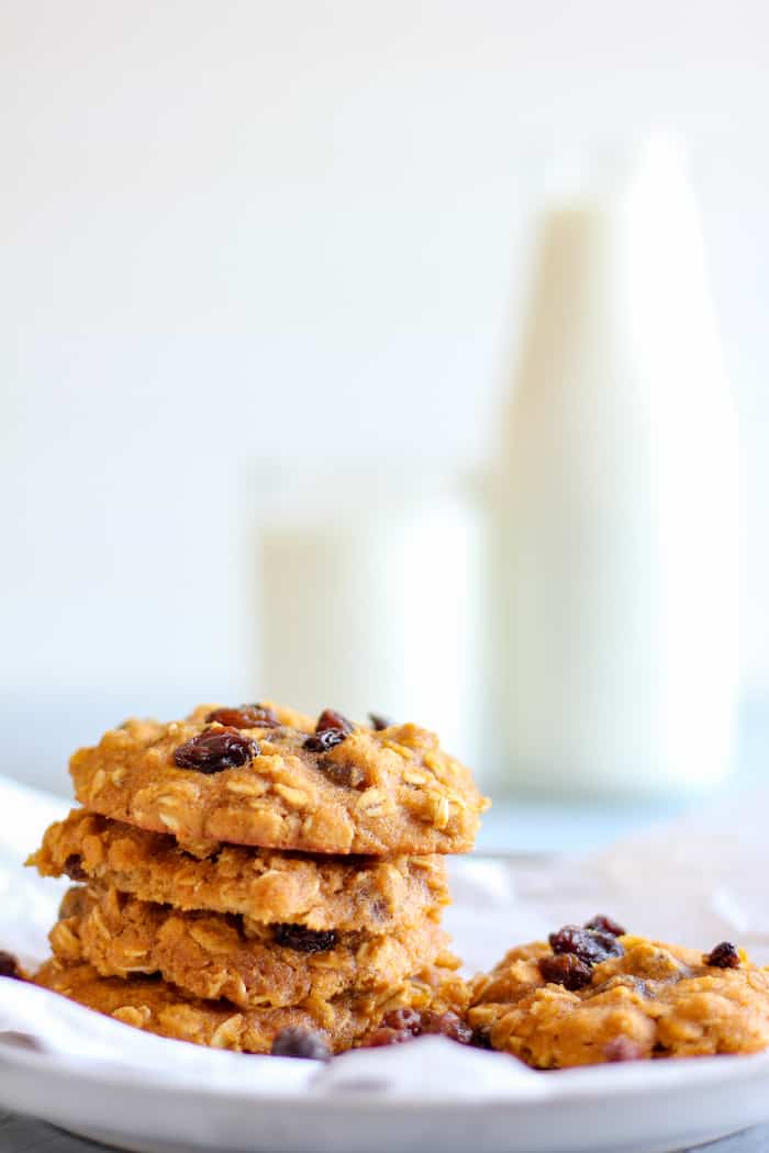 oatmeal raising cookies that are gluten-free and good for you!