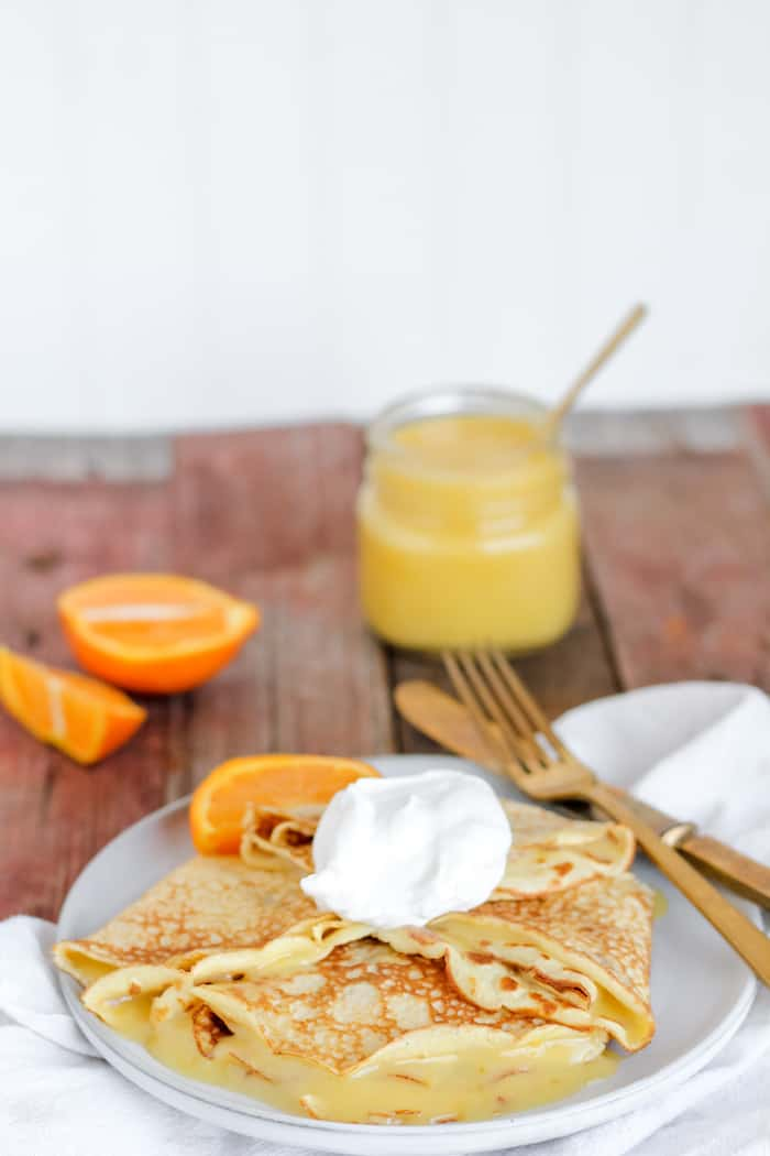 This simple orange curd recipe is fabulous on crepes!