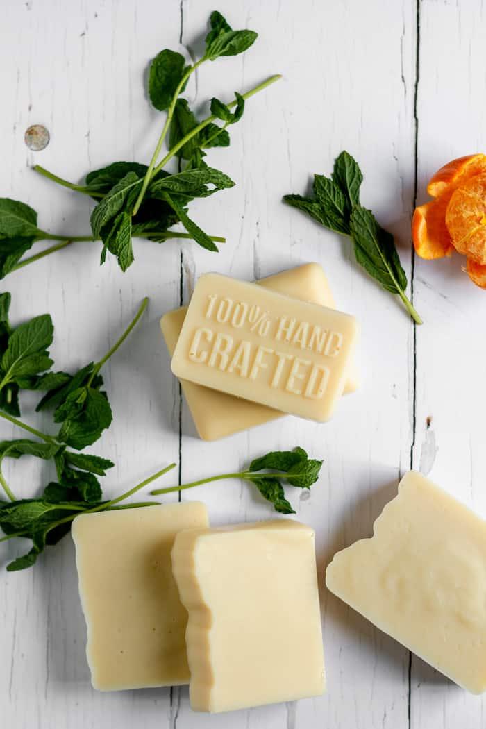 Orange-Spearmint Cold Process Goat Milk Soap Recipe