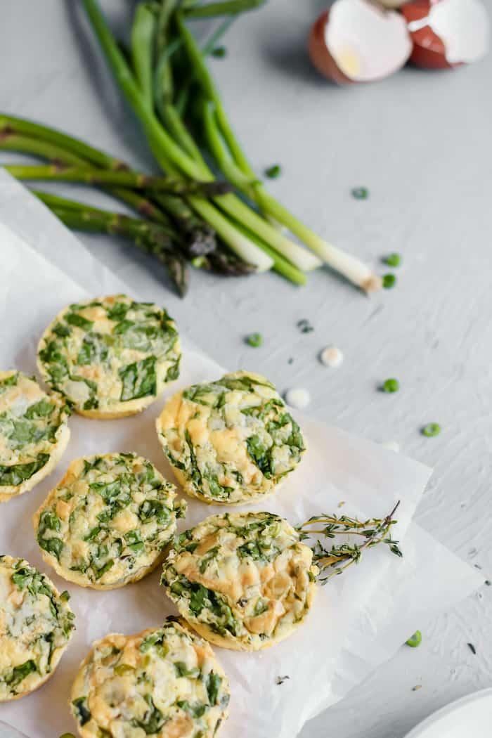 recipe for spring vegetable egg bites