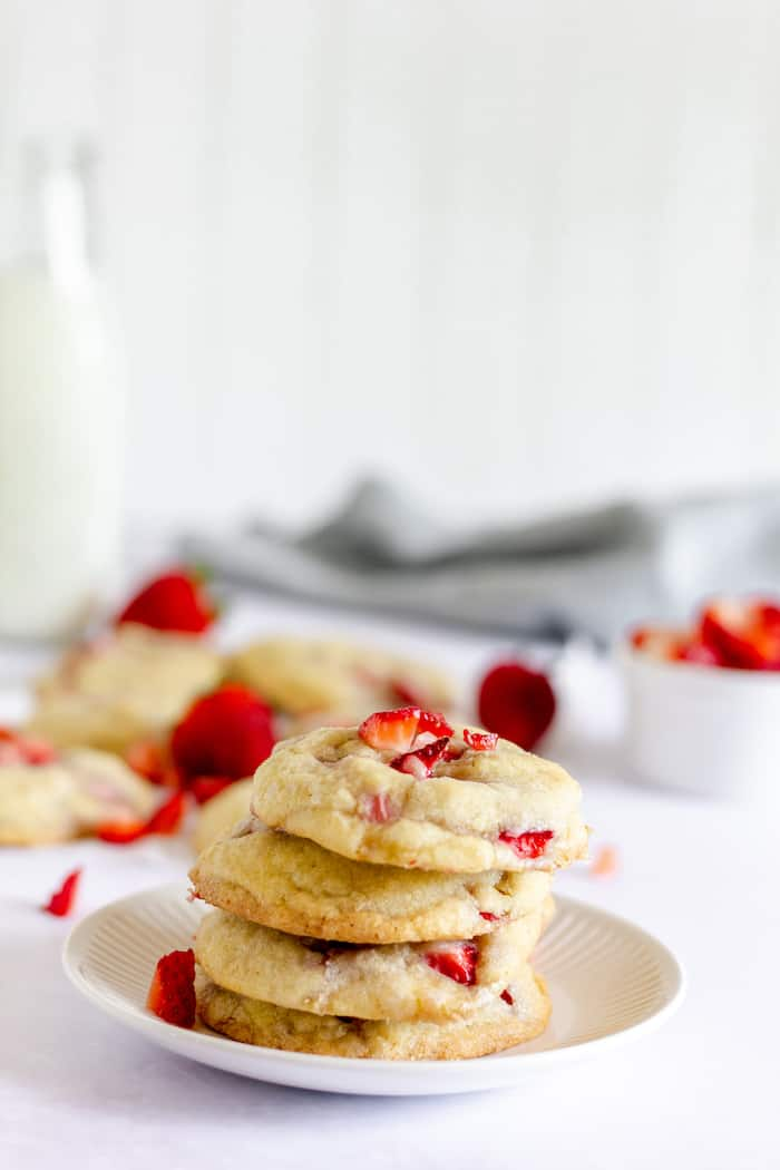 This easy strawberry chunk cookie recipe is a treat you'll love!