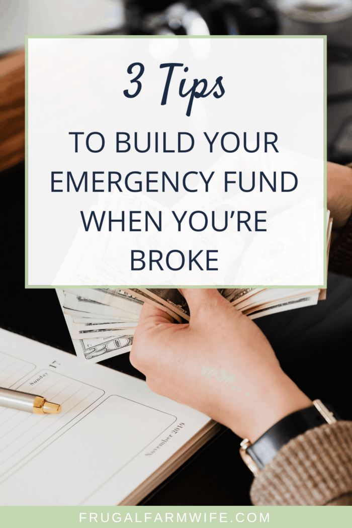 3 tips to build your emergency fund no matter how broke you are