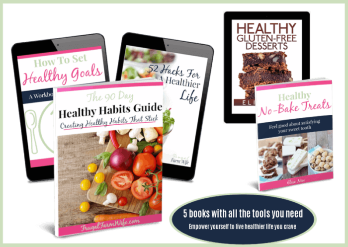 Healthy living Work books and recipes