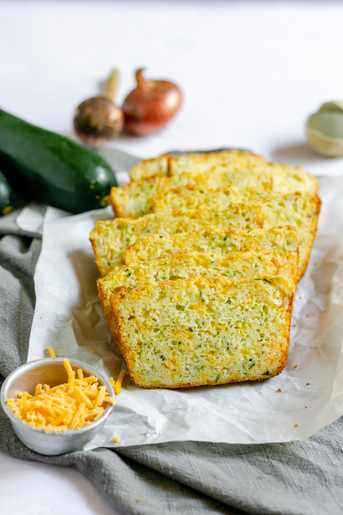 gluten-free zucchini cheese bread