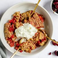 easy cherry crumble gluten-free recipe