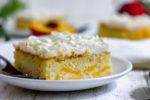 easy gluten free peach cake