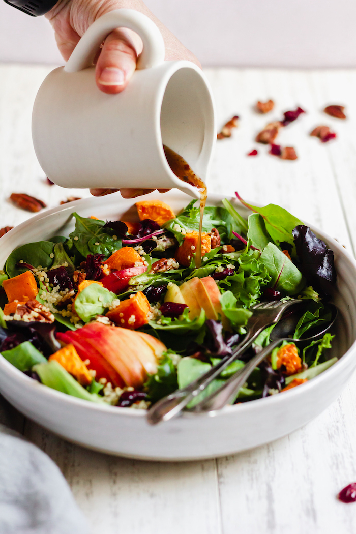 how to make a fall harvest salad